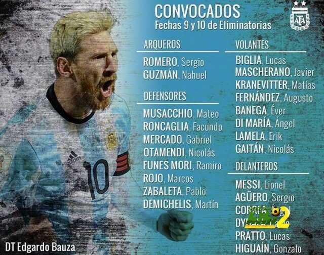 قائمة الآرجنتين لمواجهة بيرو والباراجواي coobra.net