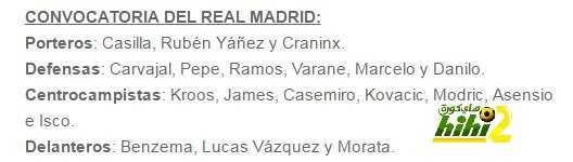 قائمة ريال مدريد لمواجهة إسبانيول coobra.net