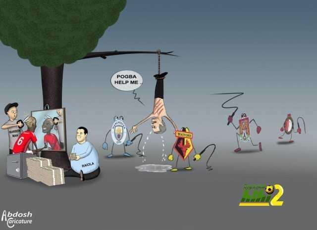 كاريكاتير هاي كورة .. عدد قصات شعر بوغبا أكثر من لقطات ظهوره بالمباريات ! coobra.net