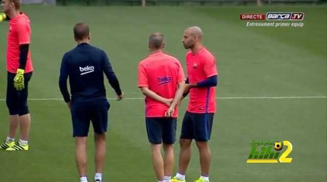 صورة : أخر تدريبات برشلونة لمواجهة اتليتكو مدريد coobra.net