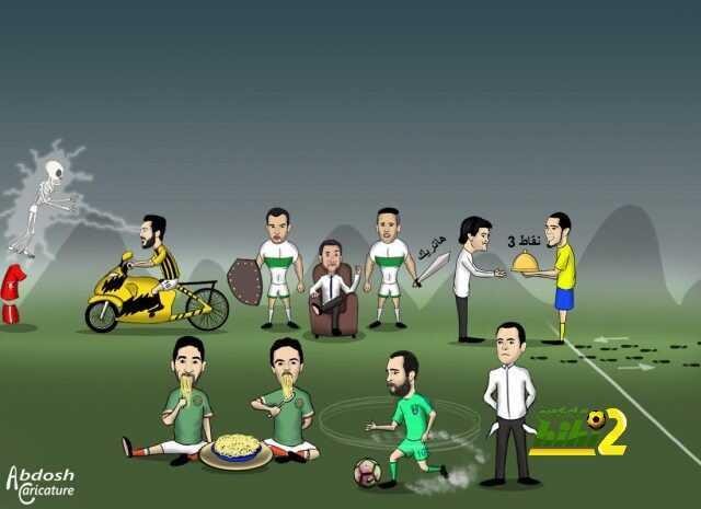 كاريكاتير هاي كورة  .. مخلص الجولة الثالثة من الدوري السعودي ! coobra.net