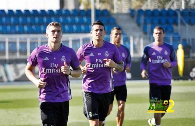 صور : استعدادات ريال مدريد لمواجهة لاس بالماس coobra.net