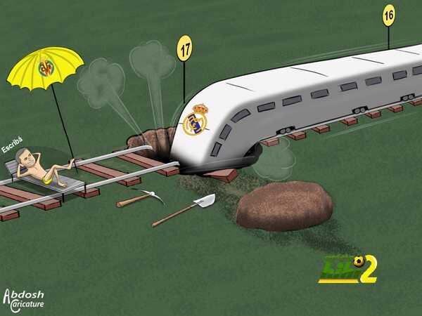 كاريكاتير هاي كورة ? سقوط ريال مدريد coobra.net