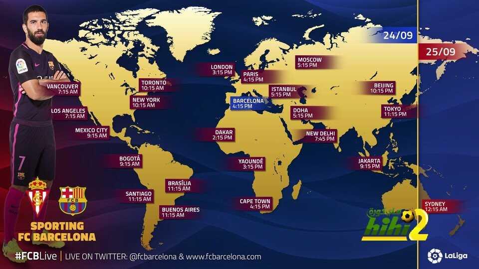 موعد انطلاق مباراة برشلونة وخيخون coobra.net