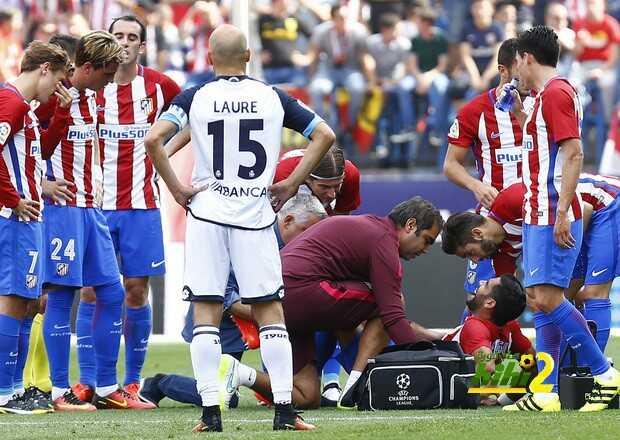 لاعب اتلتيكو مدريد سيغيب لفترة طويلة coobra.net