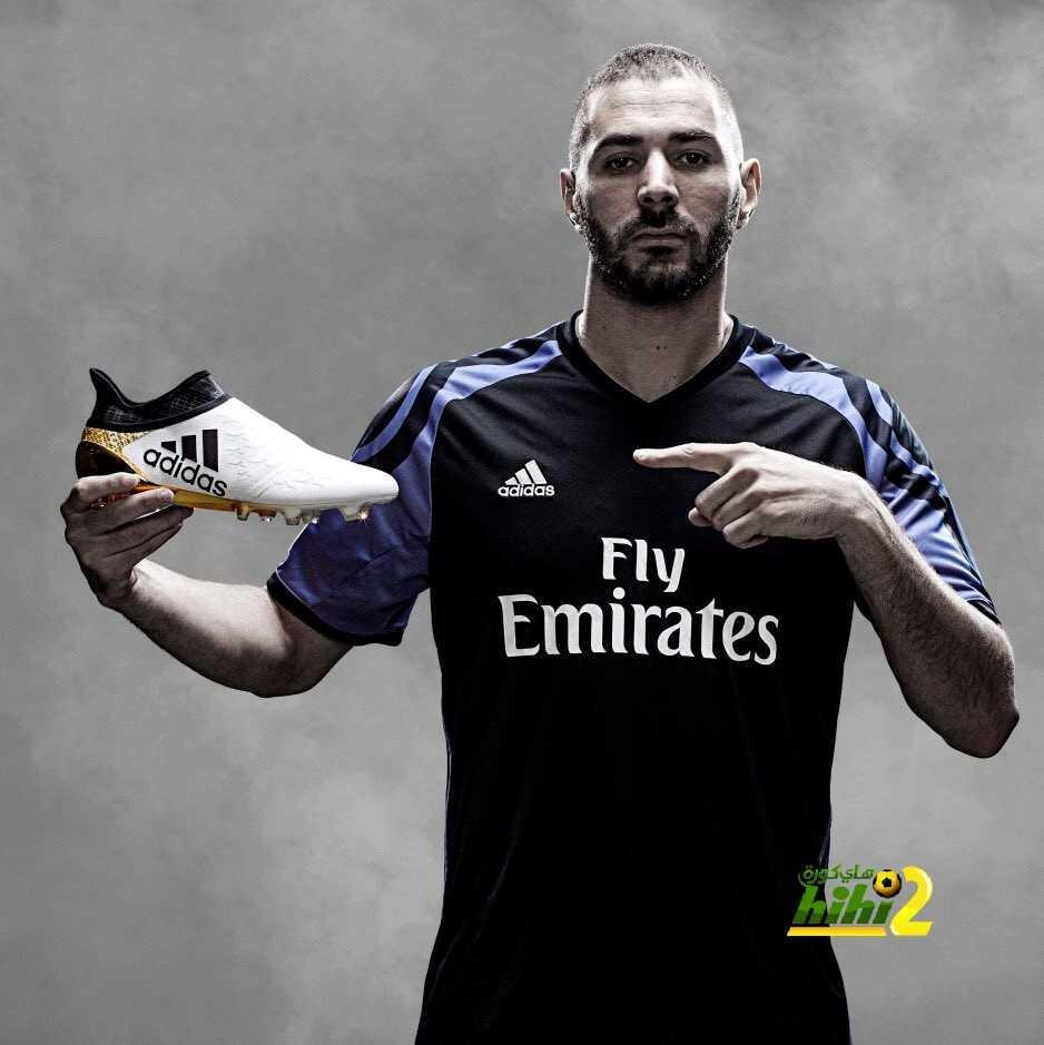 صورة : بينزيما يكشف عن حذائه الجديد لدوري الأبطال coobra.net