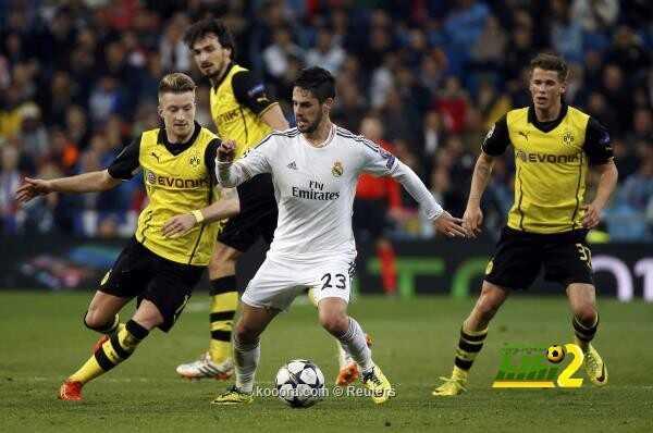 التشكيلة الرسمية لقمة ريال مدريد ودورتموند coobra.net