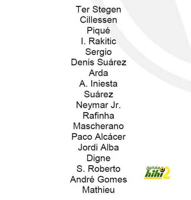 قائمة برشلونة لمواجهة سيلتا فيجو coobra.net