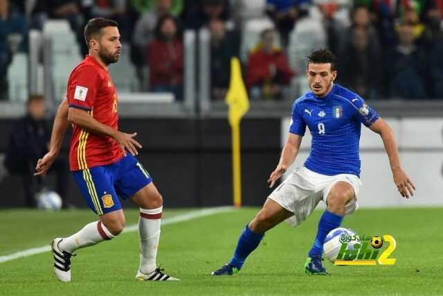 إيطاليا تنهي الشوط الأول متعادلة مع إسبانيا ! coobra.net