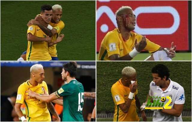 صورة : إصابة نيمار التي جعلته ينزف الدماء بمباراة البرازيل و بوليفيا ! coobra.net