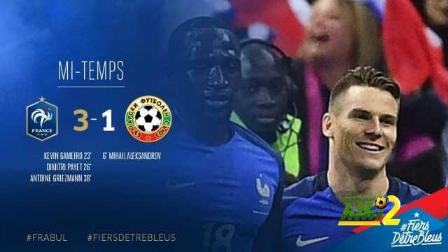 فرنسا تنهي الشوط الأول متقدمة ضد بلغاريا بتصفيات كأس العالم coobra.net