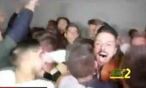 فيديو : لاعبي ليونيسا يحتفلون بملاقاة ريال مدريد coobra.net