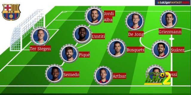 تشكيلة برشلونة المحتملة أمام مايوركا هاي كورة
